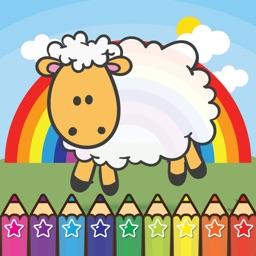 Sheep Farm Coloring Book for preschool