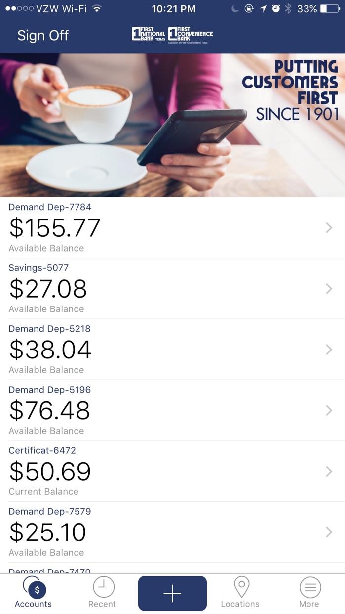 FNBT & FCB Mobile Banking Screenshot