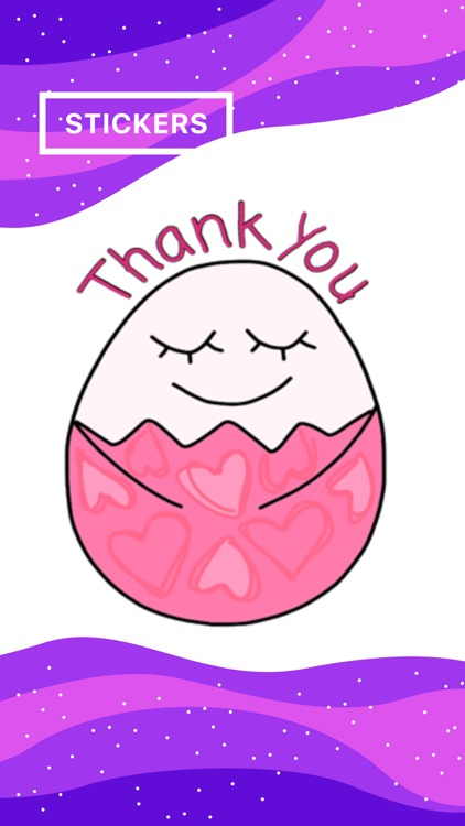 Happy Bunny Egg Stickers for Easter Day