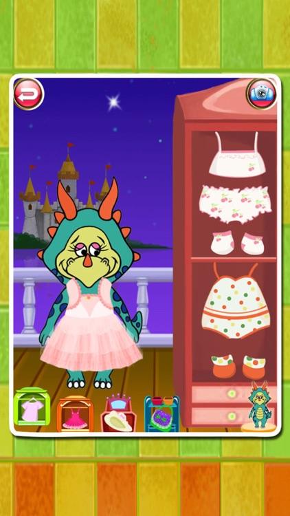 Dino Bath & Dress Up -FREE games for girls & boys screenshot-3