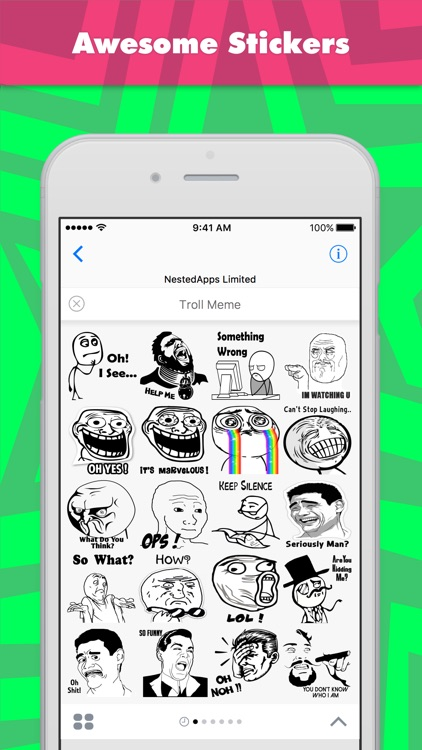 Troll Meme stickers by NestedApps Stickers
