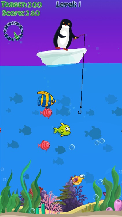 Penguin fishing games - fisherman funny game free