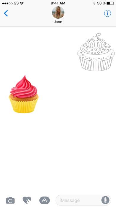 蛋糕貼紙包!屏幕截圖3