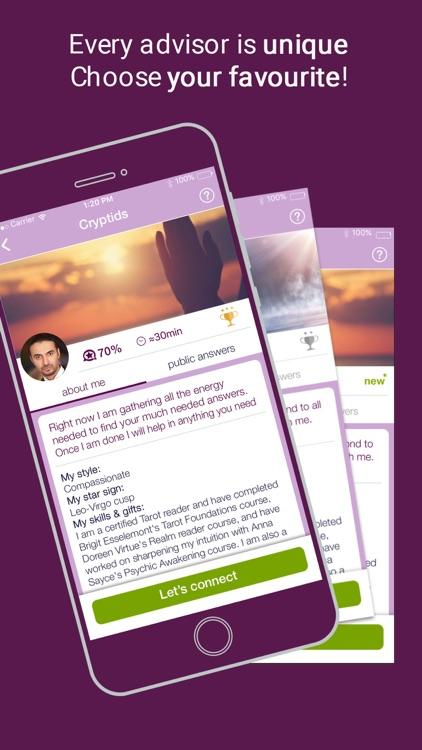 fortunica - Psychic Reading & Tarot advice app image
