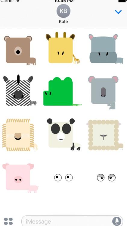 fukuwarai(福笑い)animal sticker