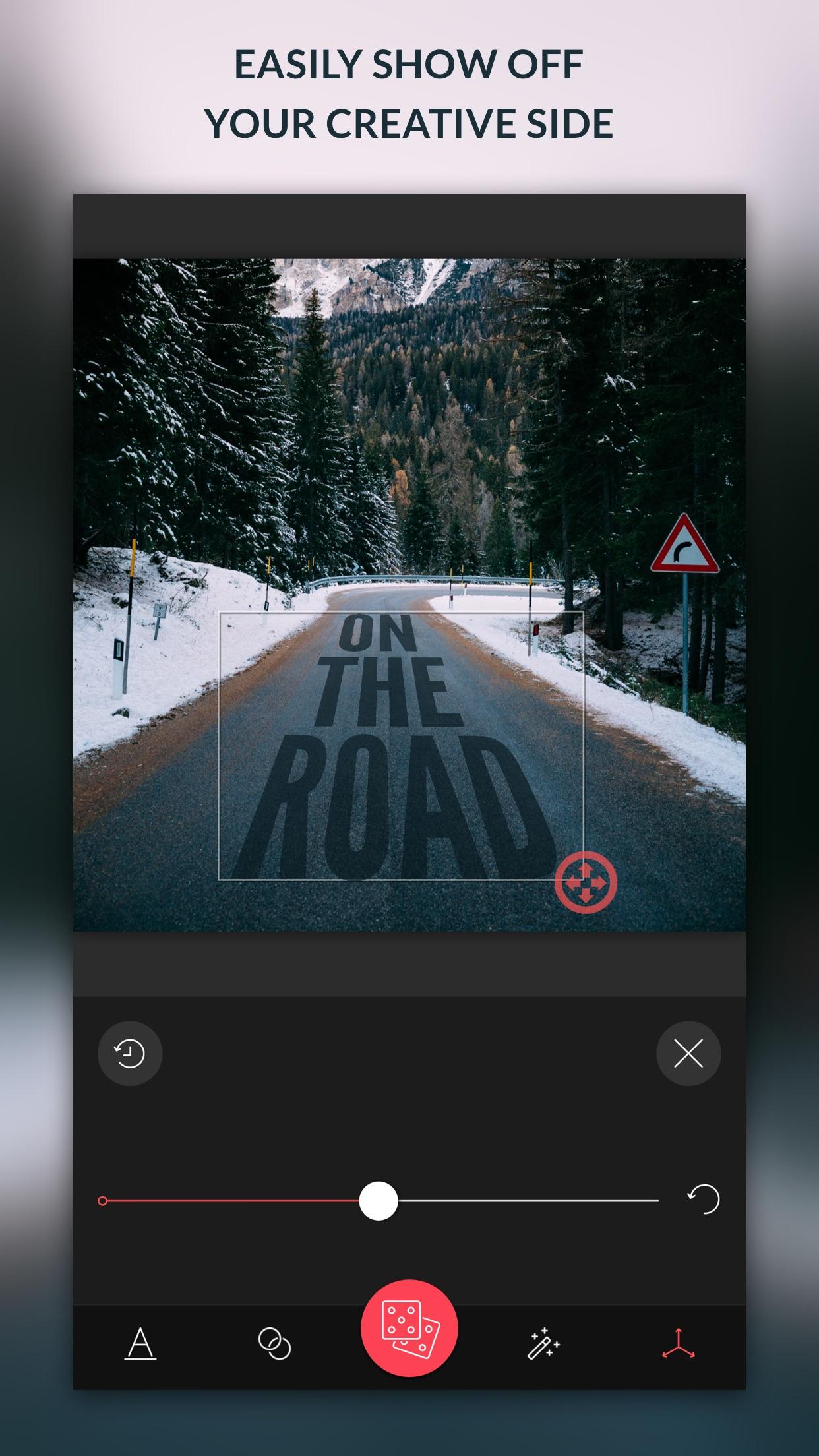 Screenshot do app TypiMage - Typography Editor