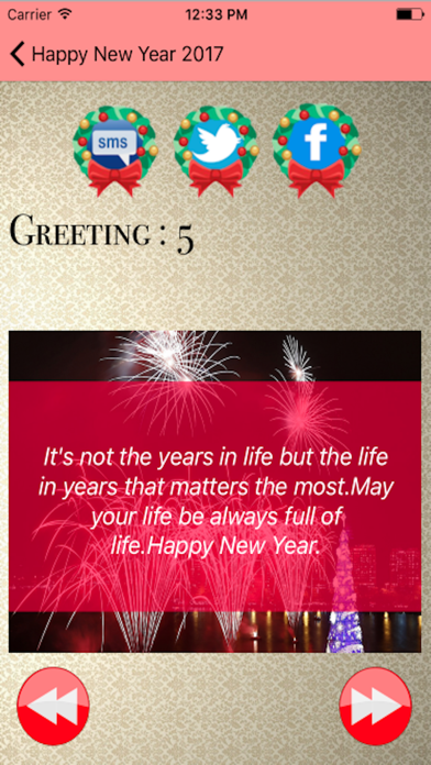 Happy New Year 2017 - Greetings,Quotes and Wishes screenshot two