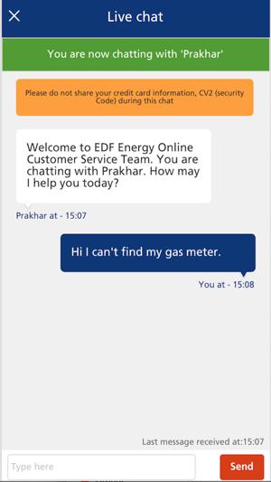 Edf chat online