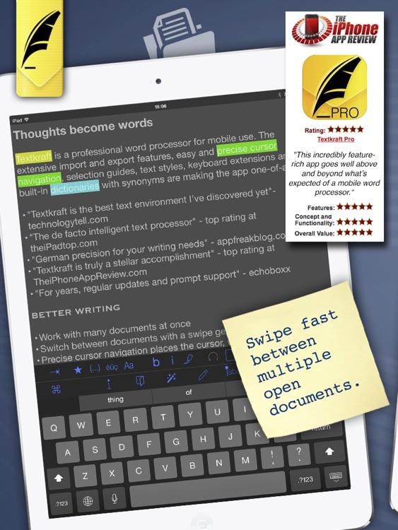 Textkraft Lite - easy & fast writing