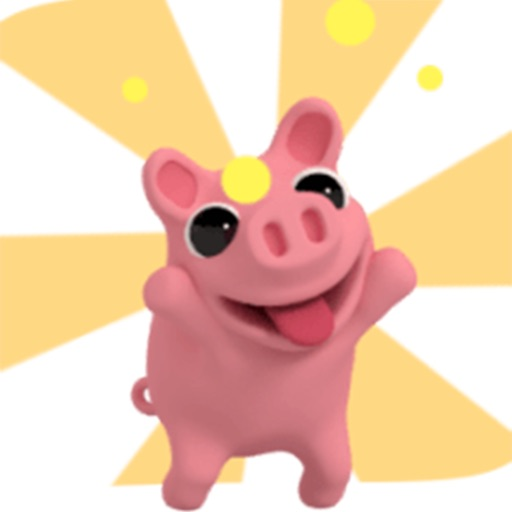 Pinky The Pig Animated Stickers