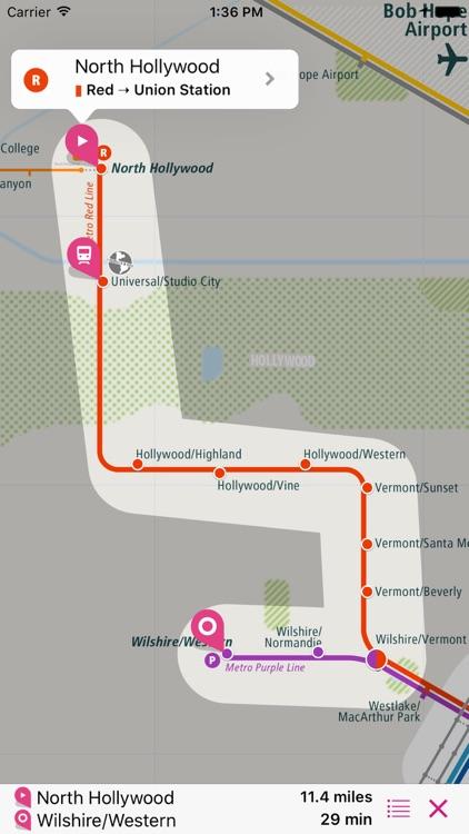 Los Angeles Rail Map