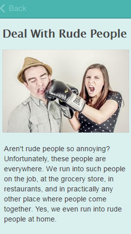 How To Deal With Rude People