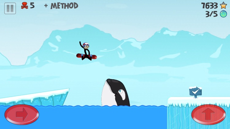 Stickman Snowboarder™ screenshot-2