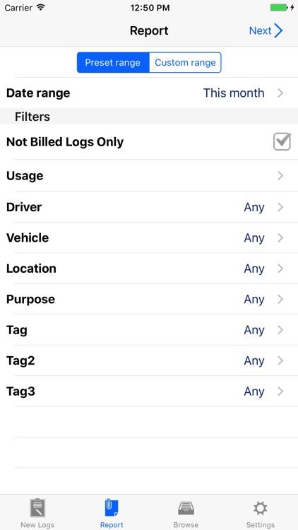 Milog - mileage log tracker