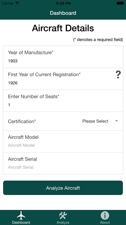 Your Plane Aging Aircraft Tool
