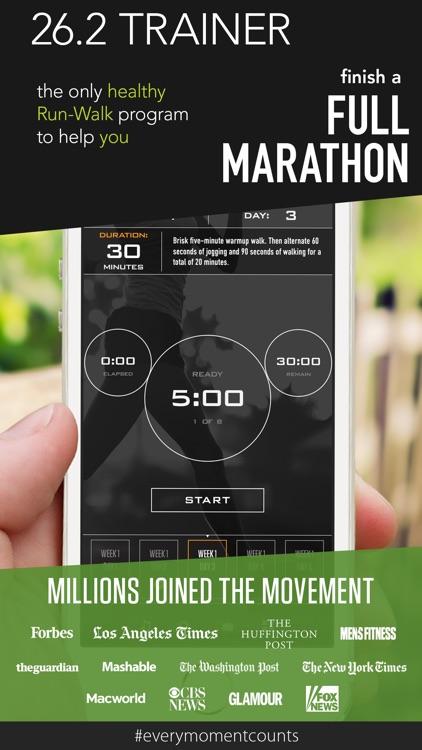 Marathon Trainer - 26.2 42K Run Walk Training screenshot-0