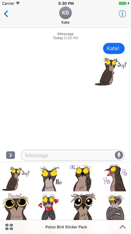 Potoo Bird Sticker Pack