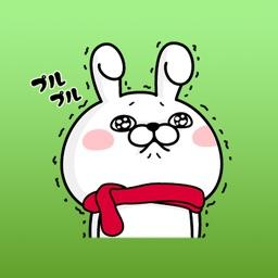 Tina The Sassy Cute Bunny Sticker Winter