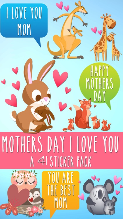 Mothers Day I Love You Sticker Pack