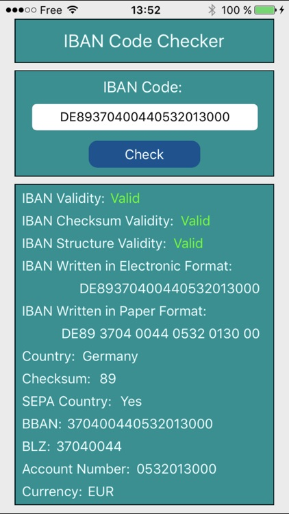 IBAN Code Checker