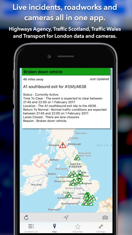 UK Roads - Traffic News & Cameras screenshot-0