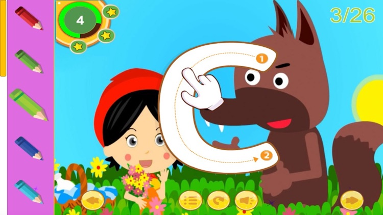 Aesop fables and ABC Tracing for kindergarten screenshot-4