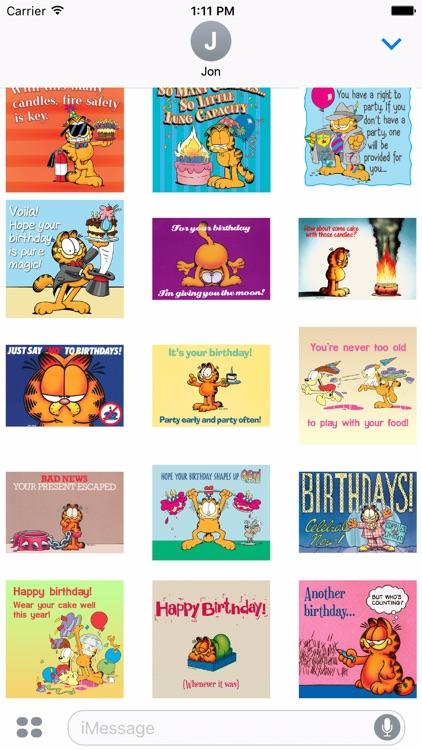 Garfield's Animated Birthday Card Stickers screenshot-3