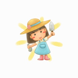 Garden Girl - Text Message Stickers Pack