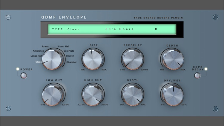 Envelope Audio Unit Reverb by DDMF