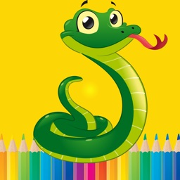 Snake drawings Coloring books For Kids