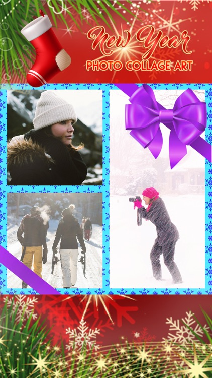 New Year Photo Collage Art: Pic Editor with Frames screenshot-2