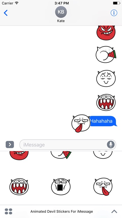 Animated Devil Emoji Stickers For iMessage screenshot-4
