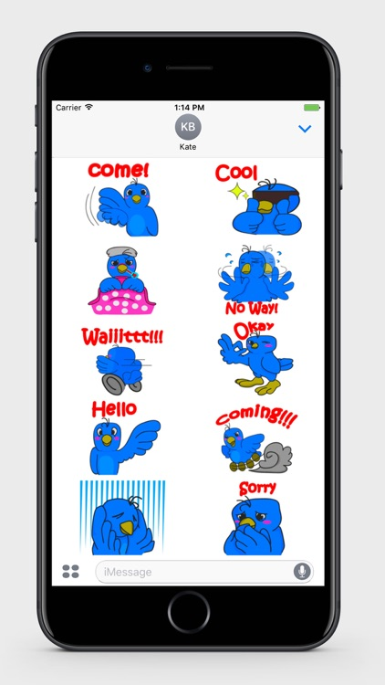 Blue Bird Stickers screenshot-3