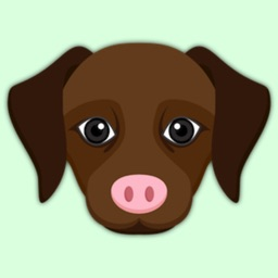 Animated Dark Chocolate Labrador Stickers
