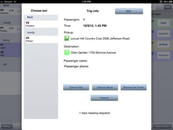 Taxi Dispatch screenshot