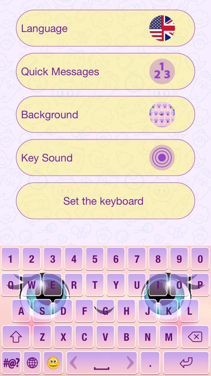 Cute Cartoon Color Keyboard Themes Emoji & Layout screenshot-3