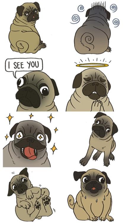 Cute Bulldog Stickers