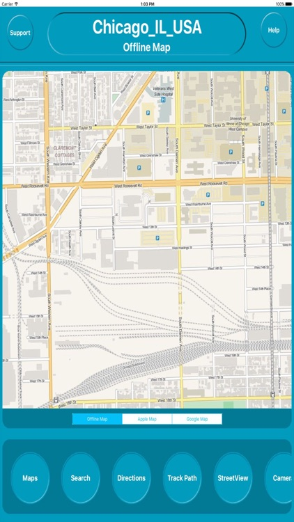 Chicago IL USA  City Offline Map Navigation
