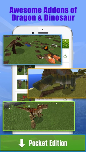 Dragon & Dinosaur Addons Free for Minecraft PE on the App Store