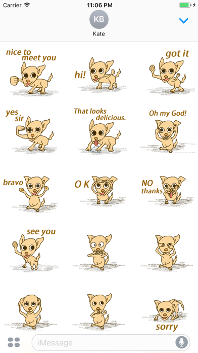 Opie The Crazy Chihuahua Stickers