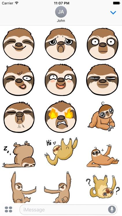Happy Lazy Sloths Stickers