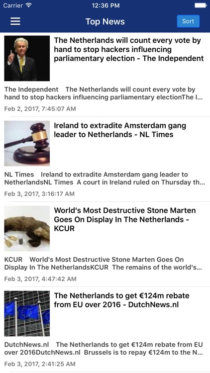 Dutch News in English Pro screenshot-0