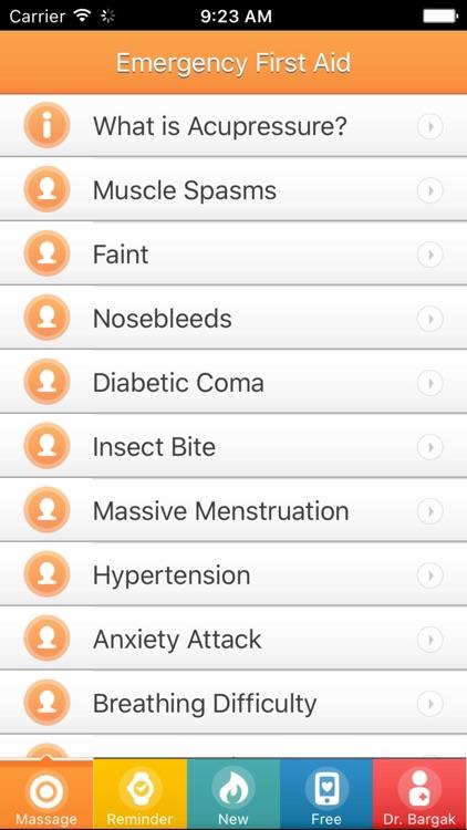 Emergency First Aid - Acupressure Massage Points