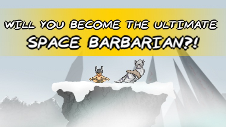 Space Barbarian Snow Runner screenshot-4