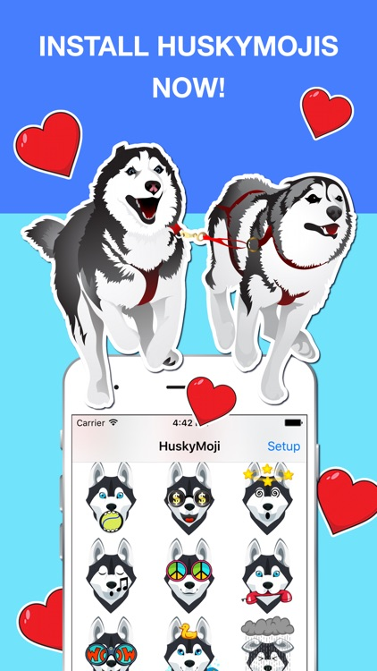 HuskyMoji - Siberian Husky Emoji Keyboard Stickers screenshot-3