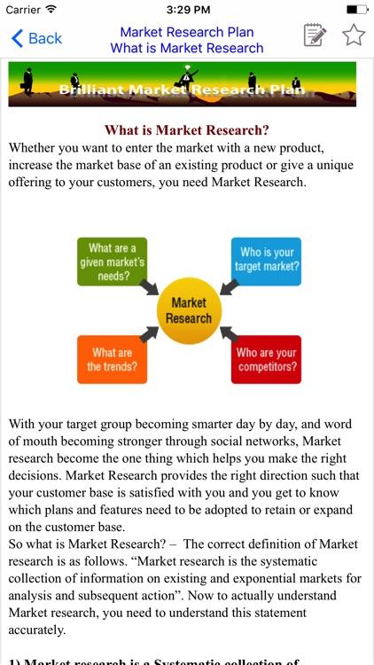 MRP  - Market Research Plan & Brilliant MRP