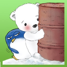 Baby White Bear and Penguin Sticker