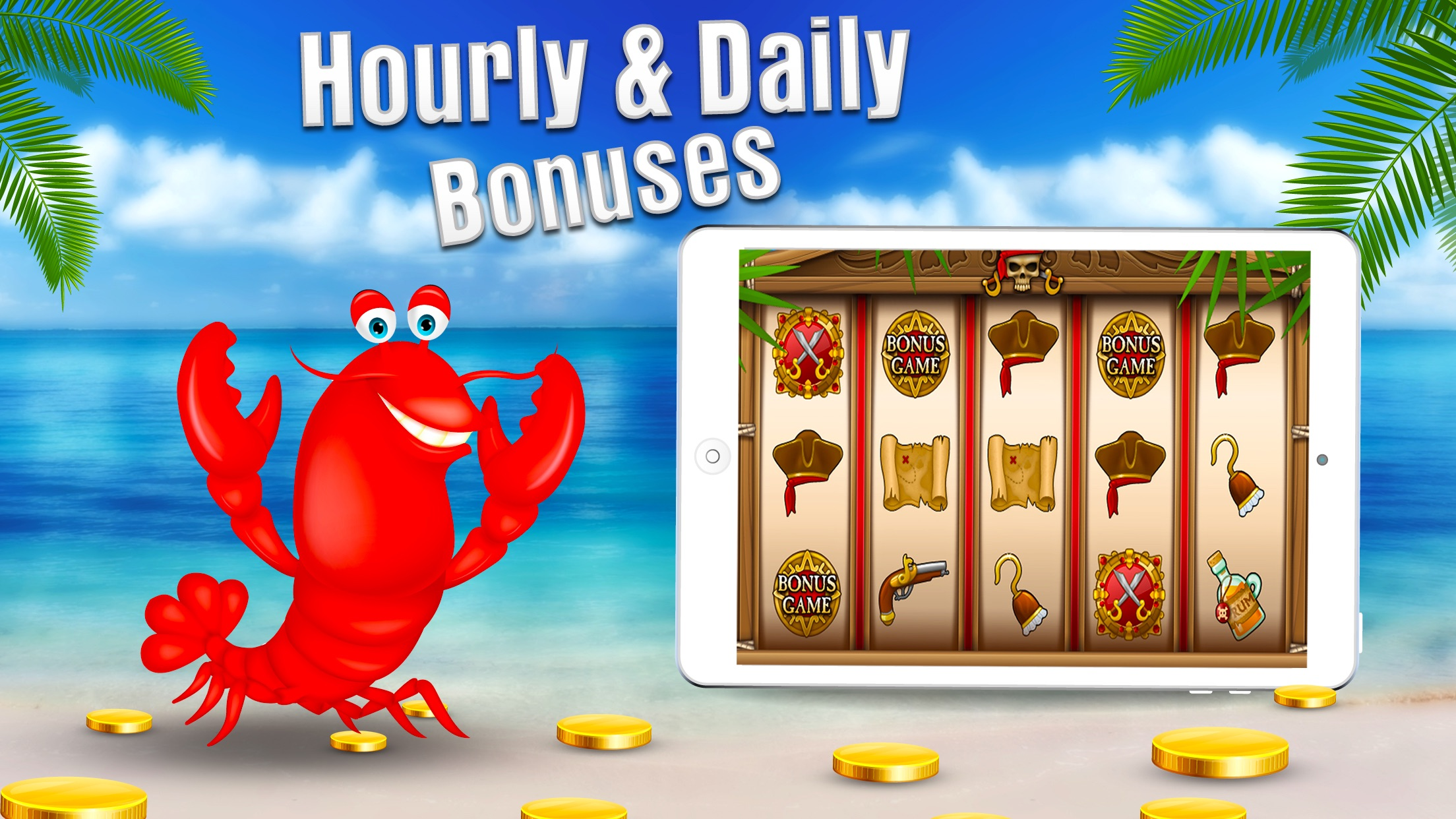 Free Casino Games - Lucky Lobster Slots Screenshot