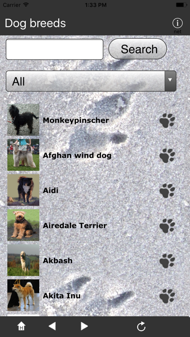 Breeds of Dogs screenshot one