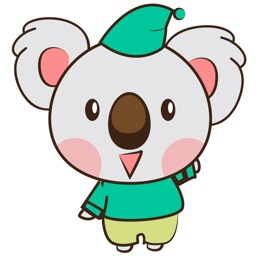 Kuruu, the cute little koala for iMessage Sticker